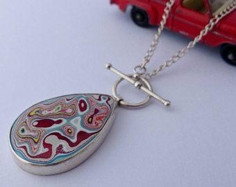 Teardrop Fordite necklacependant