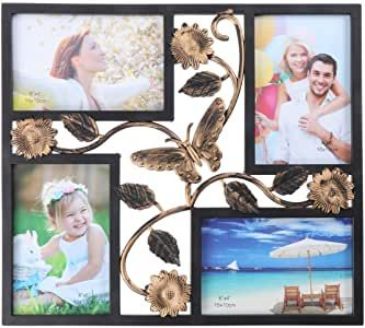 Imikeya 4x6 Collage Picture Frames For Wall 4 Opening Collage Frame Wall Hanging Multi Photo Frame For Family Frames On Wall Multi Photos Frame Picture Collage 4 opening picture frame 4x6