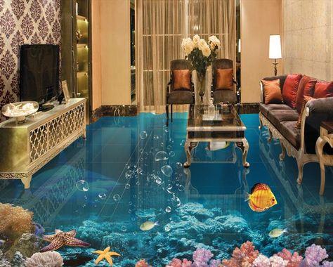 3d Fußboden Wohnzimmer ~ D boden malerei individuelle foto tapete unterwasserwelt von