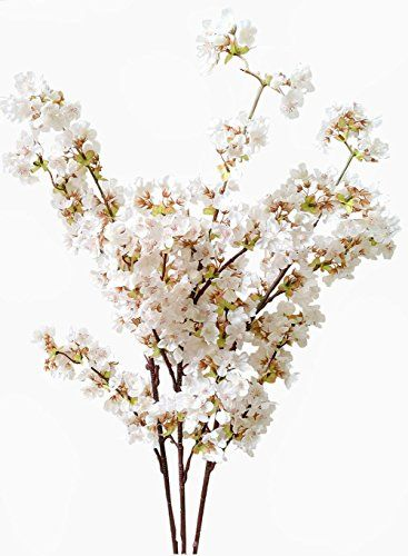 Artificial Cherry Blossom Branches Flowers Stems Silk Tal Https Www Amazon Com Dp Fake Flower Arrangements Home Wedding Decorations Cherry Blossom Branch
