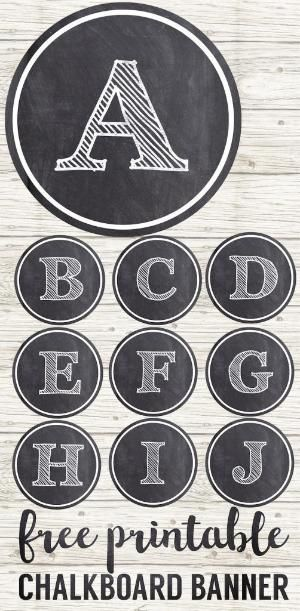 graphic relating to Printable Letters for Signs known as Totally free Printable Circle Banner Alphabet - for developing birthday