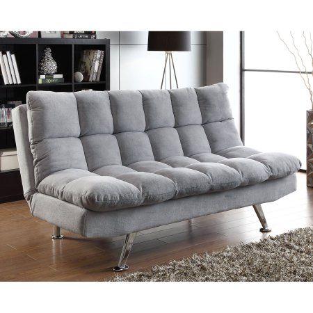 Coaster Transitional Teddy Bear Fabric Sofa Bed Grey