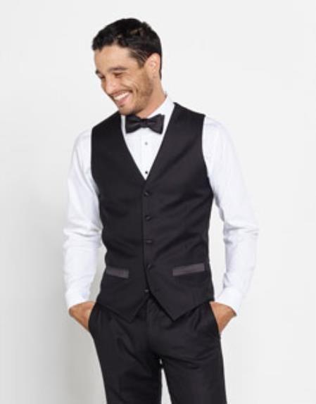 Mens Tuxedo Shirt & Bowtie + Black Pants | Tuxedo shirt men
