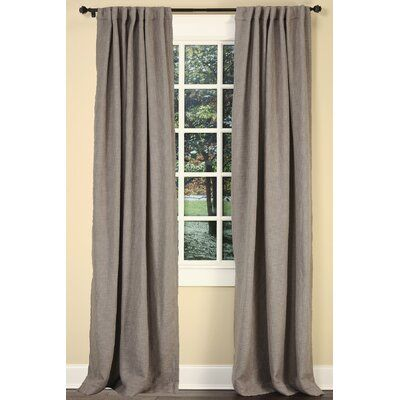 Emdee Boucle Solid Color Rod Pocket Single Curtain Panel In 2020