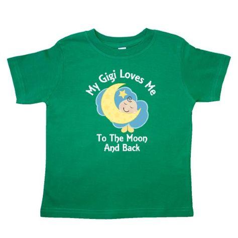 Inktastic I Love My Gigi To The Moon And Back T-Shirt You Grandma Grandmother