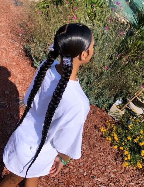 Hair Ponytail Styles, Weave Ponytail Hairstyles, Black Girl Braided Hairstyles, Baddie Hairstyles, African Braids Hairstyles, Curly Hair Styles, Natural Hair Styles, Teen Girl Hairstyles, Girls Natural Hairstyles