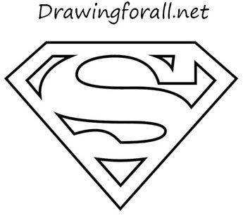 How To Draw The Superman Logo Superman Logo Superhero Coloring Pages Superman Symbol
