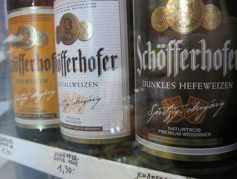 P22 Cezanne font used on Schofferhofer beer