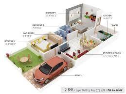 Car Parking 20 40 Duplex House Plan 3d