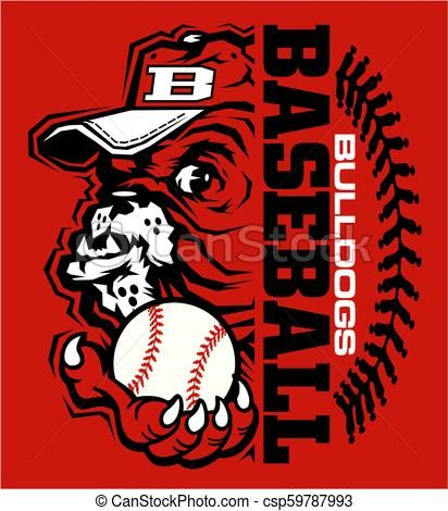 Bulldogs Baseball Vector Stock Illustration Royalty Free Illustrations Stock Clip Art Icon Stock Clipart Icons Logo Li Baseball Vector Baseball Art Icon