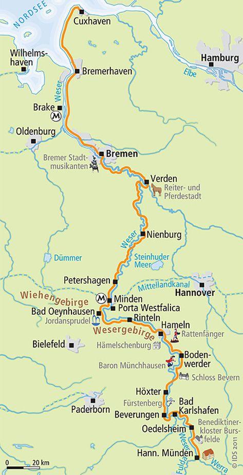 Weser Radweg 12 Tage Radreise Bis Zur Nordsee Velociped