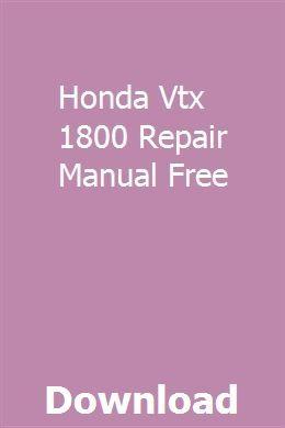 Free honda vtx 1800 users manual.