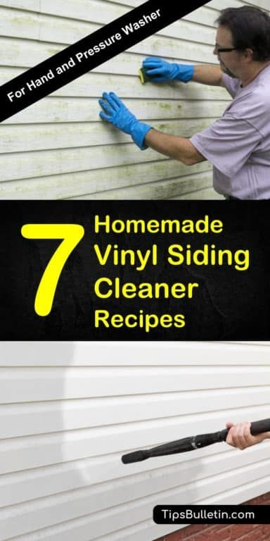 7 Homemade Vinyl Siding Cleaner Recipes Cleaning Vinyl Siding Vinyl Siding Cleaner Recipes