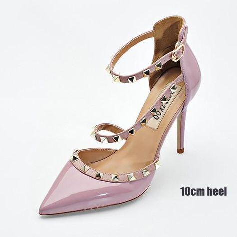 Summer Flock high Spike Heel Platform Cross-Strap Buckle Fish Mouth Concise Womens Sandals,Pink,4.5