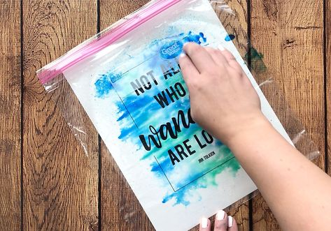 Make gorgeous (cheater) watercolor prints using markers + water - It's Always Autumn