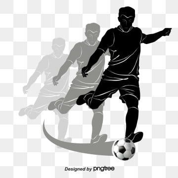 Soccer Athlete Soccer Vector Football Athlete Png And Vector With Transparent Background For Free Download In 2020 Soccer Backgrounds Graphic Design Background Templates Football Silhouette
