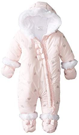 kaiCran Baby Onesie Winter Romper Long Sleeve Hooded Zipper Snowsuit Jumpsuit Outfits Kids