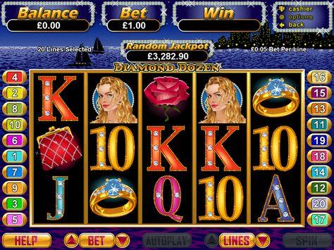 Play The Online Casino Video Slot Game Diamond Dozen For Free 24