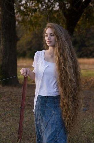 Haaren den frau mit längsten Schon Frau