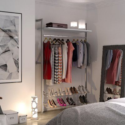 Wfx Utility Humberto 51 W Closet System Finish White With Images Closet Organizing Systems Closet System Clothes Storage Systems