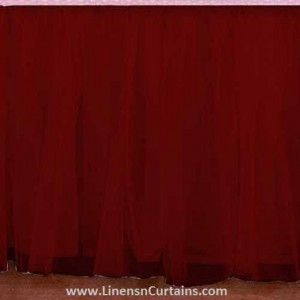Any Size Burgundy Tulle Bed Skirt Dust Ruffle Velcro Detachable Queen Full Twin Xl Cal King Daybed Extra Long Split Corner Tulle Bedskirt Bedskirt Ruffle Bed Skirts