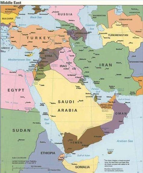 Informacion Sobre Oriente Medio Mapa De Asia Mapa De Geografia