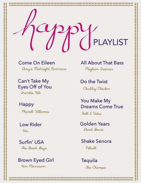 Johnny and Ashley: happy playlist