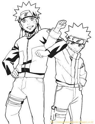 29 Gambar Kartun Naruto Untuk Mewarnai Di 2020 Dengan Gambar