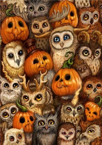 Diy Diamond Painting Kits Pumpkin And Owl.