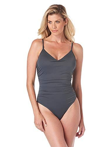Magicsuit Womens Swimwear Solid Jenn One Piece Swimsuit with Soft Cup Bra and Adjustable Halter Straps