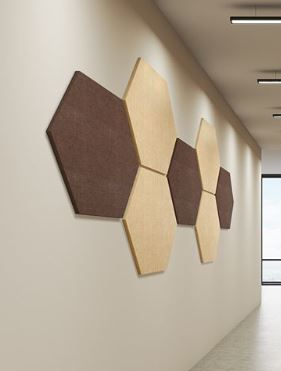 Our Acoustic Hexagon Panels Are Quick To Install And Come In Many Different Colors To Compliment Any Space Acoustic Panels Acoustic Wall Acoustic Wall Panels