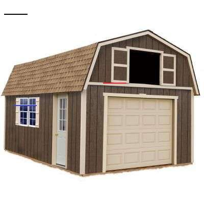 Barn Pros 2 Car 30 Ft X 28 Ft Engineered Permit Ready Garage Kit With Loft Installation Not Included Thd Bp2c In 2020 Wood Garage Kits Best Barns Storage Shed Kits