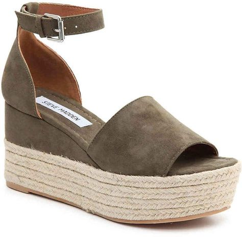 0bf166c7805 he Apolo from Steve Madden is perfect for maintaining a trendy wardrobe.  These platform sandals feature a partial espadrille wedge