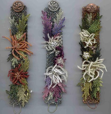 make handmade, crochet, craft link has an example of artist beaded flower.