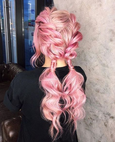 hairstyles natural hairstyles using hairstyles straight back hairstyles near me braided hairstyles braid hairstyles hairstyles lines updo hairstyles for black hair 2018 # side Braids half up half down Hair Dye Colors, Cool Hair Color, Hair Color Pink, Pretty Hairstyles, Braided Hairstyles, Pink Hairstyles, Ethnic Hairstyles, Mermaid Hair, Hair Colors