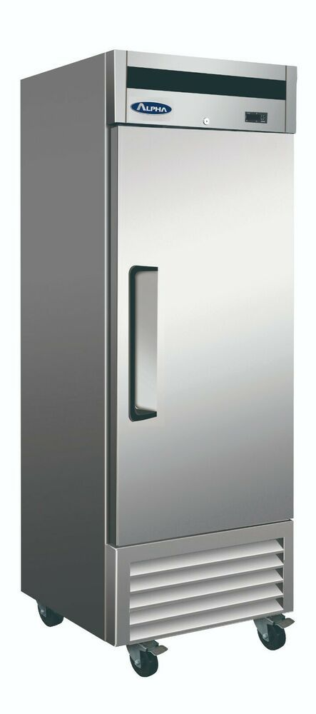 Alpha Ab27f Commercial 1 Door Bottom Mount All Stainless Steel Reach In Freezer Alpha Locker Storage Restaurant Equipment All Stainless Steel