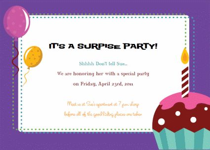 Birthday Party Invitations Wording New Invitations Pinterest - free template for birthday invitation