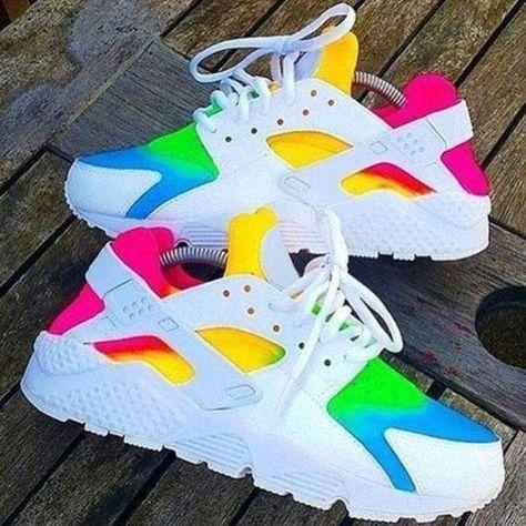2016 nike air huarache womens rainbow shoes hot   Nike shoes girls ...