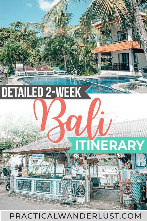 Rice paddies, monkeys, sandy beaches, volcanoes, temples: there is so much to see in Bali, Indonesia that it's difficult to fit everything into one itinerary! But we've done the work for you and created the perfect 2-week Bali itinerary, plus tons of Bali travel tips to help you plan your Bali travel itinerary. #Bali #BaliDestination #Indonesia #Travel #itinerary