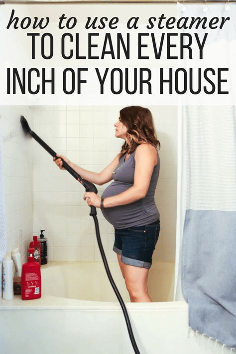 How to use a steamer to clean just about anything in your house. 15 great ideas for unique ways to use your steam cleaner around the house #clean #cleaning #steamcleaner #lifehacks