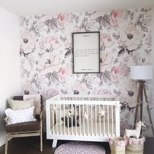 Shabby Roses Vintage Wallpaper Removable Wallpaper Etsy Vintage Wallpaper Floral Wallpaper Nursery Wallpaper