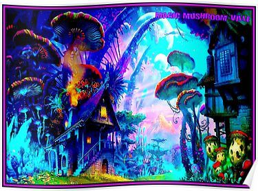Fantasy Psychedelic World Colourful Art Large Poster /& Canvas Picture Prints