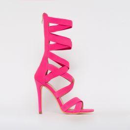 wide range best deals on the best Astrid Neon Pink Strappy Stiletto Heels | Stiletto heels, Heels ...