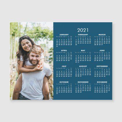 2021 Modern Calendar Your Photo Zazzle Com Modern Calendar Magnetic Business Cards Photo Calendar