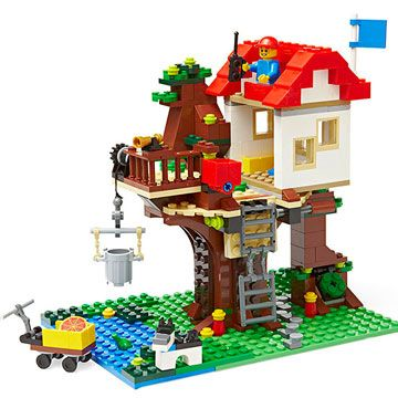 This Lego Treehouse set comes with building plans for 3 different and equally awesome designs for kids ages 7-12. #ParentsGifts #ParentsMagazine
