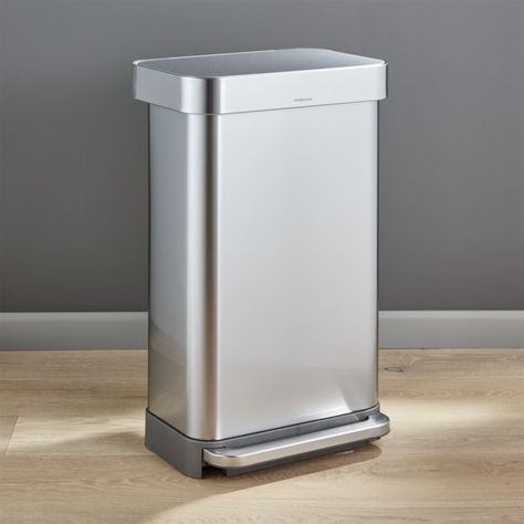 Shop Simplehuman 45 Liter 12 Gallon Stainless Steel Step Kitchen Trash Can 20 Off Select Trash Cans Use Code At C Kitchen Trash Cans Trash Can Simplehuman