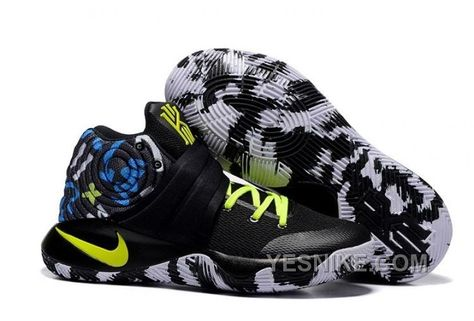 Big Discount  66 OFF Nike Kyrie 2 Camo BlackNeon Green Basketball Shoes 309685