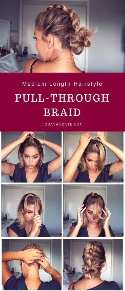 42 Ideas For Hairstyles For Medium Length Hair Tutorial Updo Hairstyles For Medium Length Hair Tutorial Medium Length Hair Styles Medium Hair Styles