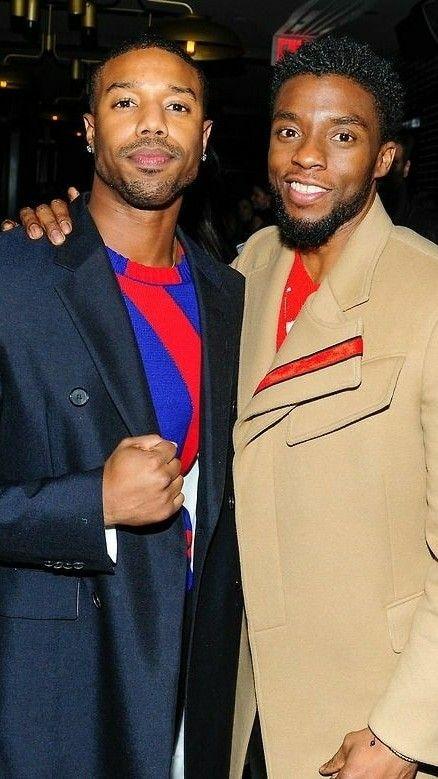 Michael B Jordan And Chadwick Boseman Wallpaper Michael B Jordan American Actors Michael Bakari Jordan