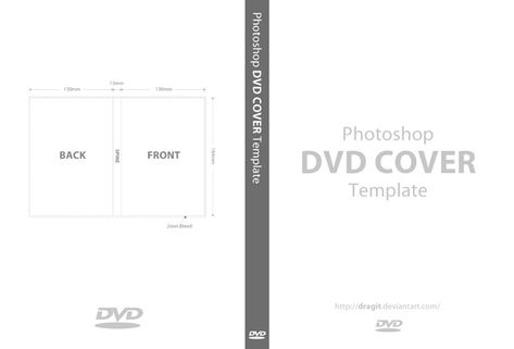 Dvd Cover Template For Photoshop By Dragit On Deviantart
